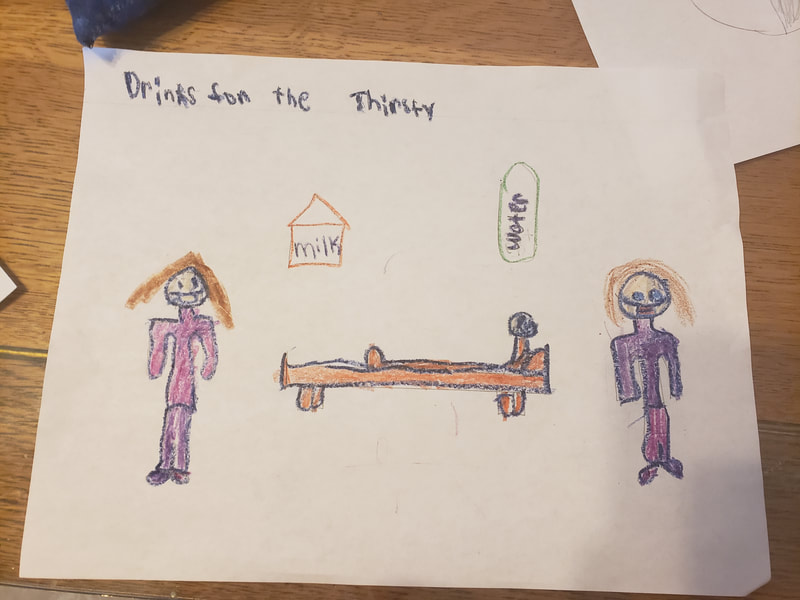 1st Grade Art - Corporal Work of Mercy, Give Drink to the Thirsty