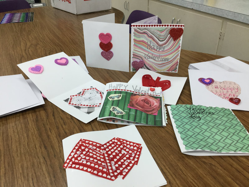 5th grade Valentine cards for their CWM: Pray for the Imprisoned